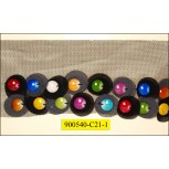 """Multicolor round beads on Black mesh 2 5/8"""""""