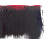 "Fringe feather with Black satin tape 6"" Black"