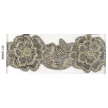 Lace w/double layer flowers&cording2 1/2Gol/Gold
