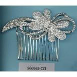 Hair Clip w/Rhinestone butterfly