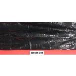 Fabric w/reflective plastic Triangular1.5MBlk/Blk