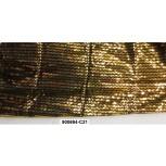 Fabric w/reflective plastic Triangular1.5MGold/Blk