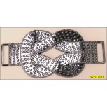 Buckle Attachment with Slider both End Knot Design Gunmetal