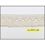 """Crochet Lace Honeycomb Pattern with Fringe 1"""" Natural"""