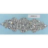 App.w/Big glass beads& Rstones7x2 1/4Silver
