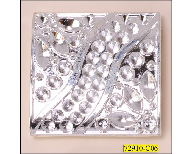 "Attachment Metal Immitate Rhinestone Inner Diameter 15/16""x2"" Silver"