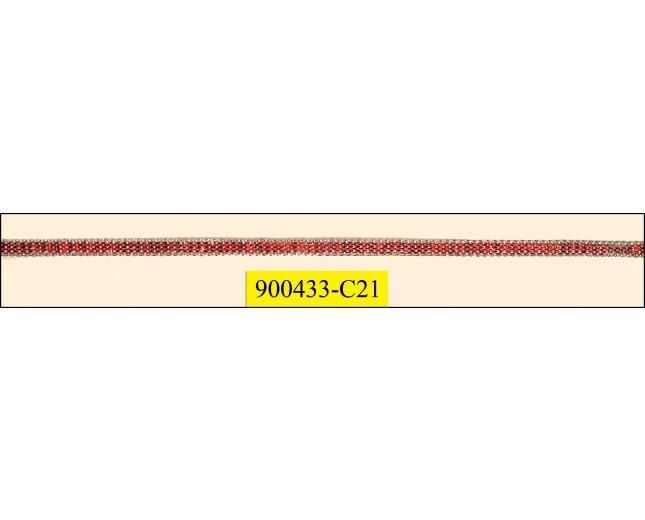 Cord flat 2 tone 0.4 CM