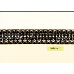 """Square Studs with Stone in Middle Hot Fix 1 1/2"""" Black and Gunmetal"""