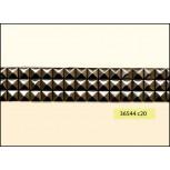 "Square Studs Rectangle 3 Rows Hot Fix 1"" Gunmetal"