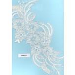 App. w/pearls&glass& 2cut beads12 1/2x6Wht/Silver